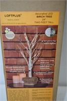 """Loftplus Decorative LED Birch Tree 24"""" Tall"""