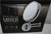 Wall Mount Mirror with Defused LED Ring Light
