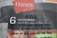 Hanes Tagless Briefs Size Medium