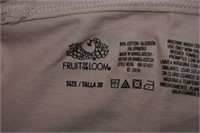 (6) Fruit of the Loom Sports Bra's Size 38