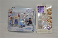 Frozen Toy Figures and Nail Art Stickers