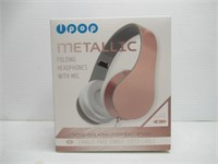 Lpop Metallic Folding Headphones With Mic