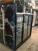 QBD 3dr Sliding Glass Cooler - 72 x 30 x 80