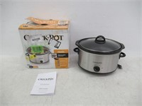 Crock-Pot 4 Qt Stainless Steel Oval Slow Cooker -