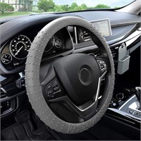FH Group FH3002GRAY Gray Steering Wheel Cover