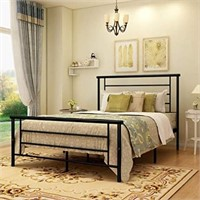 DUMEE Metal Bed Full Size with Headboard and