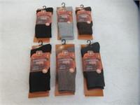 (6) Prs Merino Wool Thick Socks, Resistant To