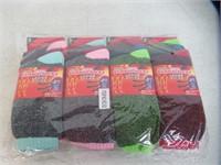 (4) 3-Pk Women's Thermal Heated Crew Socks 9-11