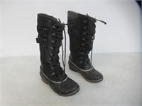 """Used"" Sorel Women's 8 Tall Snow Boots, Black"