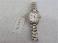 Bulova 98M103 Women Quartz Silver Dial Date Two