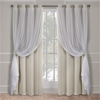 Exclusive Home Curtains Catarina Layered Solid