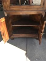Oxford vintage cherry corner cabinet