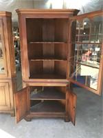 Oxford cherry corner cabinet