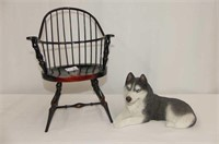 "Dolls Arm Chair 14""H,  Sandicast Husky"