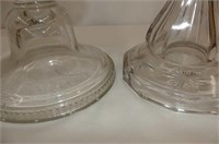 2 Clear Coal Oil Lamps