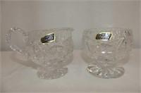 Pinwheel Crsytal--8 Glasses, Violetta Cream & Suga