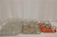 55 Pieces of Crystal w/Bow & Lace Swag Design