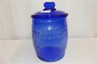 Blue Peanuts Cookie Jar