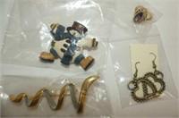 Costume Jewellery--Earrings, Dinner Rings, Necklac