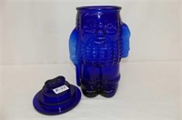 Blue Peanut Cookie Jar