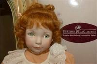 """3 Porcelain Dolls-'Peaches n Cream' 14""""H"""