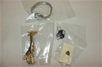 Costume Jewellery--Earrings, Bracelets, Giraffe Pi