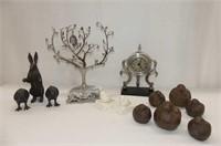 Family Photo Tree, Desk Clock, 11 Cast Pieces--10