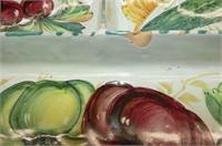 Italian Relish Dish, 2 Clown Shakers (con't)