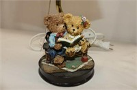 "Teddy Bear--Dresser Lamp 11""H, Photo Album Set"