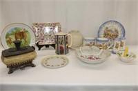 Nova Scotia Ceramic 4 Pc. Set, England Floral Pitc