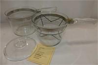 2 Cake Pans 8x8, 2 C. Pyrex Measuring Cup & Double