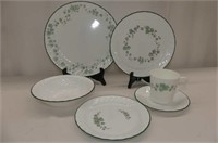 Corelle Ivy 4 Pl. Setting Dishes w/Serving Pieces