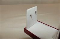 10kt. White Gold Diamond Earrings