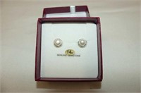 14kt. Yellow Gold 6.5mm Freshwater & CZ Pearl