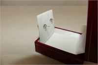 10kt. White Gold 6mm Ruby Stud Earrings