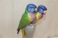 2 Pcs. Exotic Birds--Swinging Planter, Statue