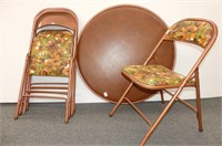 Cooey Round Card Table & 4 Chairs