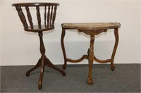 """Fern Stand 30.5""""H, Flat-to-Wall Table 22.5""""H"""