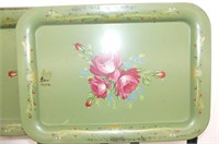Set of 4 Metal Snack Trays,