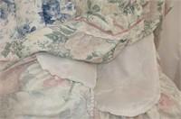 2 Double Floral Bedspreads w/Ruffles