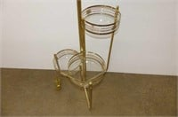 Brass Floor Lamp w/3 Shelf Plant Stand