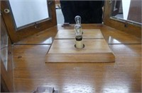 Mirrored Back Glass Shelf Curio Cabinet