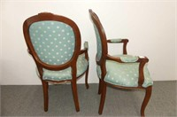 2 Victorian Style Arm Chairs