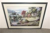 "Dubravko Raos Print 'Stone House by River"""