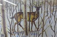Deer in the Bush by R. DeWolfe     1777/2950