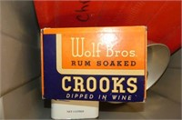 Rubbermaid Tote, Maple Syrup Tin, Wolf Bros. Cigar
