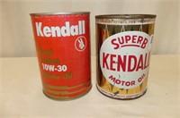 Super B Kendall Motor Oil Quart Tin, Kendall