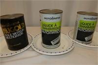 3 Motomaster Tins--1 Quart, 2 Litres
