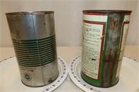 2 B/A Quart Tins--Heavy Duty Motor Oil,