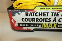 2 Pack Ratchet Tie Downs 4000lb. Max.